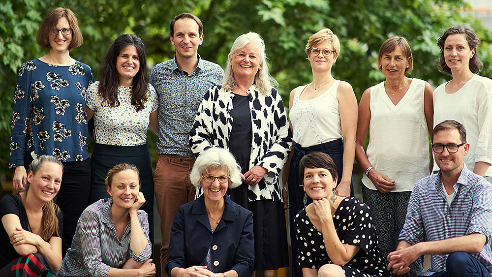 <p>The Graduate Campus team with Director Ulrike Müller-Böker in the middle of the top row.  (Picture: Laura Herrera)</p>