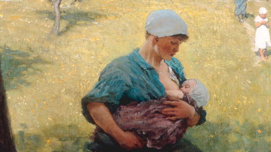 """Spring, nursing mother"" of George Clausen, 1880 (Image: Keystone)"
