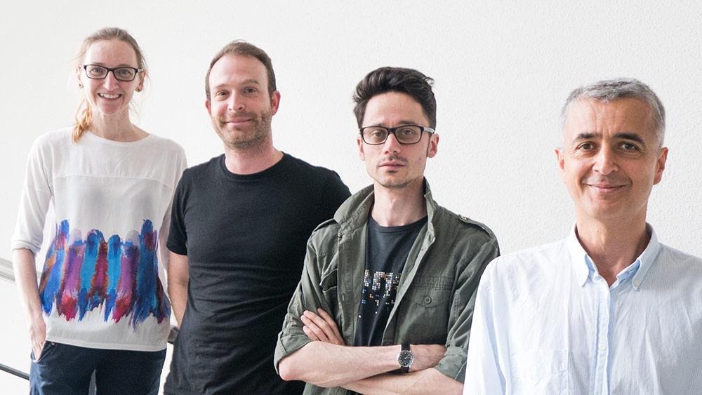 Cristina Nevado, Christian Mosimann, Tuncay Baubec und Amedeo Caflisch: Zusammen erforschen sie neue Strategien zur Behandlung von Krebs.