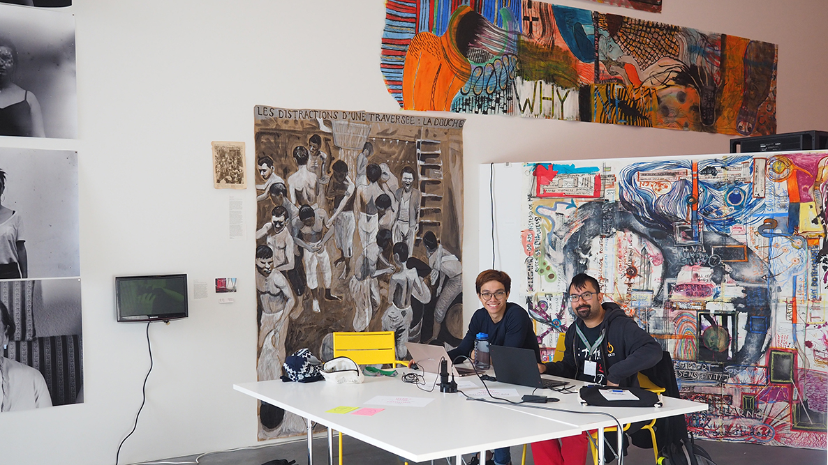 <p>Digital pioneers at the hackathon in the Kunsthalle Zürich.</p> (Image: Sarah Lechmann)