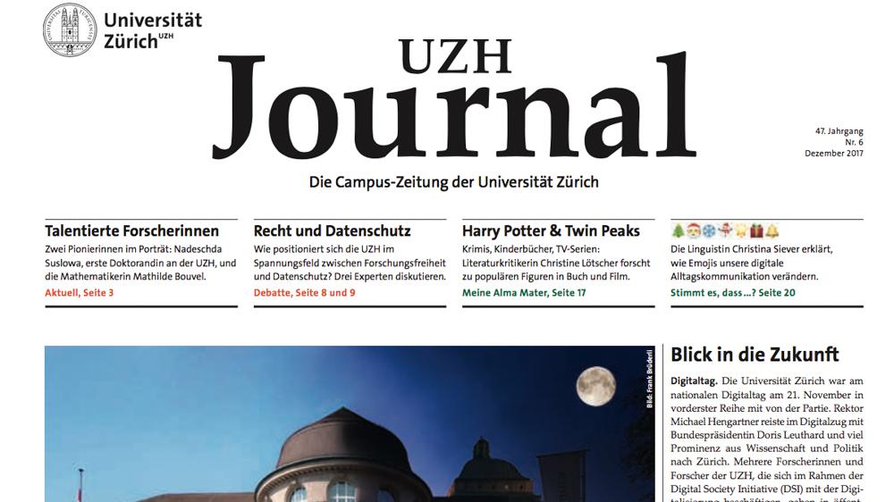 UZH - News - Rund um die Uhr